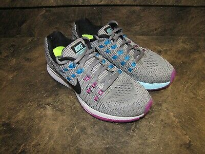 NIKE ZOOM STRUCTURE 19 SILVER BLACK PINK CYAN WOMENS 9 V-NICE! see pics-details