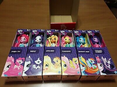 Set of 6 My Little Pony Equestria Girls Dolls Pinkie Pie Rainbow Dash NEW
