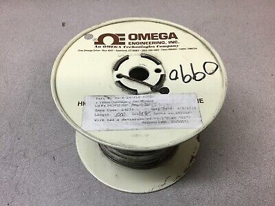 New Omega Gg-k-24-sle-1000 Thermocouple Wire Type K 24 Awg Solid Glass Braid