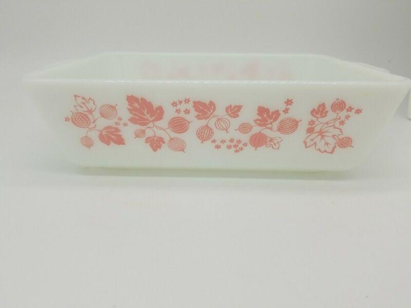 Vintage PYREX Pink Gooseberry 1 1/2 Qt. Refrigerator Dish 0503 NO LID