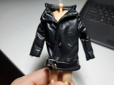 Mezco 1/12 Custom Spider-Man Noir Punisher Leather Jacket