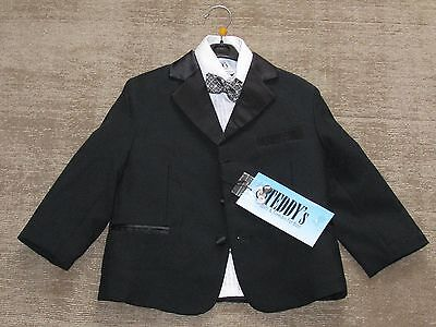 TEDDY'S SUITS AND TUXEDOS FOR BOYS  (2) - TUXEDO. SHIRT, WAIST COAT, BOW - Boys Tuxedo Shirt And Bow Tie