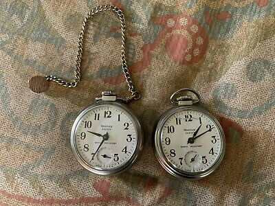 """TWO Vintage & Working Westclox """"Scotty"""" Pocket Watches - 1 with chain"""