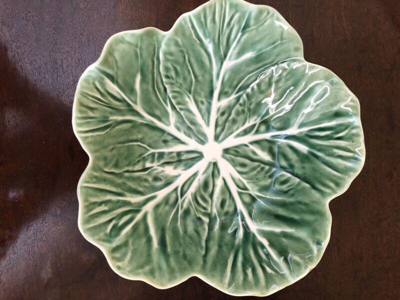 "Bordallo Pinheiro Green Cabbage Leaf  Serving Bowl 9"""