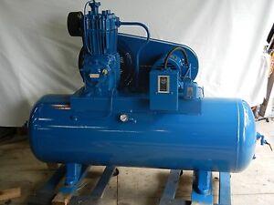 Quincy-model-325-rebuilt-air-compressor-5-hp-80-gallon-horizontal-tank