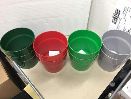 New 8x Ikea plastic plant flower pots