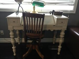 White Antique desk and Chair