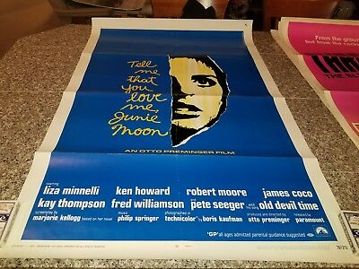 ORIGINAL MOVIE POSTER TELL ME THAT YOU LOVE ME JUNIE MOON 1 SHEET FOLDED 1970