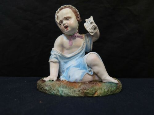 Bisque Porcelain School Age Child by Jean Gille