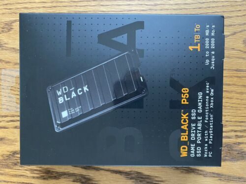 WD Western Digital SSD Black P50 1TB Game Drive Portable NEW - $170.00