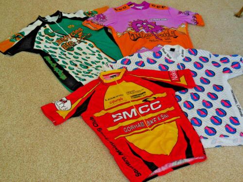 LOT 4 VINTAGE Cycling Jerseys XL Pearl Izumi Voler VoMax Good Stuff all USA Made