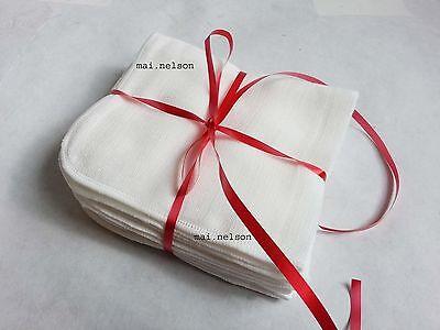 5x organic 100% COTTON MUSLIN FACE CLOTH Flannel Exfoliator DeepFacial Skin Care
