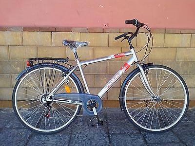 """Bicicletta bici da passeggio uomo Trekking misura 28"""" grigio"""