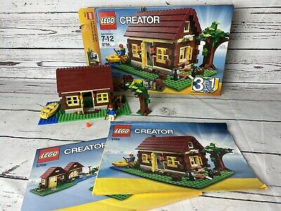LOG CABIN - LEGO CREATOR 5766 99% COMPLETE SET w/ BOX + INSTRUCTIONS
