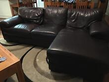 Leather Lounge 3 seater with chaise plus 2 seater Dunedoo Warrumbungle Area Preview
