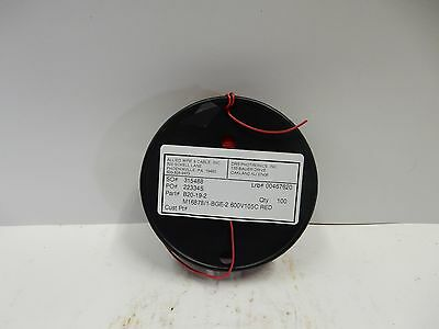 Awc Mil-spec Wire M168781-bge-2 20 Awg 100ft. 600v 105c Red New