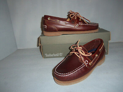 Amherst Shoe - Timberland Women's Classic Amherst 2-Eye Boat Shoes Dark Brown Sizes NIB New!!