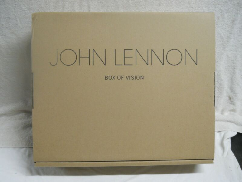 JOHN LENNON Box Of Vision Limited Edition Time Capsule CD Storage & Art Book