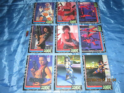 44 : Futuristic Warriors , Trading Cards # 1 - 9 , Sammelbilder , Erotik Photos