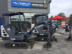 Only one left... 2012 Terex TC16 Mini Excavator only 1194hrs