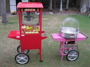 Popcorn and Fairy Floss Machine Hire Brisbane and Ipswich Browns Plains Logan Area Preview
