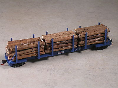 N Scale Custom realistic real wood log loads for Micro Trains Log Car. Type #3 for sale  Westminster