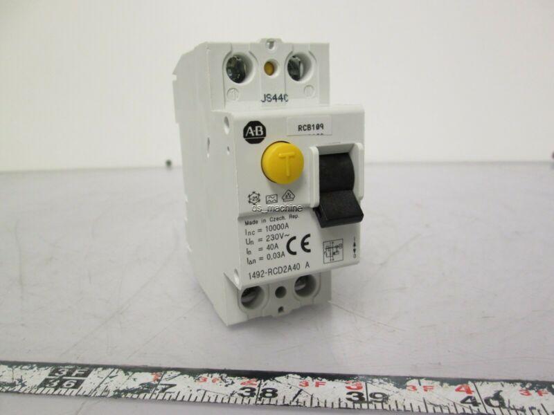 Allen Bradley 1492-RCD2A40 Residual Current Device 30mA 230VAC 1PH, 40Amp