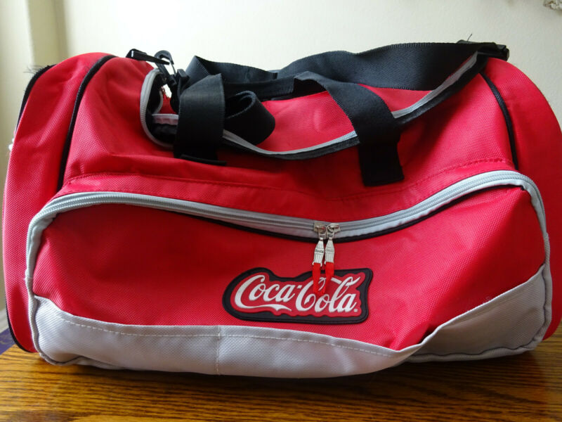 Coca Cola Collectible Red, Black and Grey Duffel Bag With Shoulder Strap