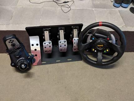 Logitech G27 + Pedal Mod + Wheel adapter racing simulator