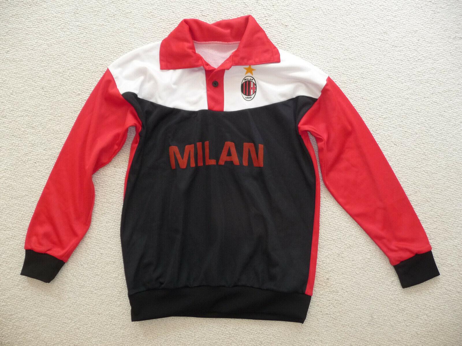 Vintage AC Mailand Milan Trikot Sweatshirt Gr.M Pullover Trainingsshirt