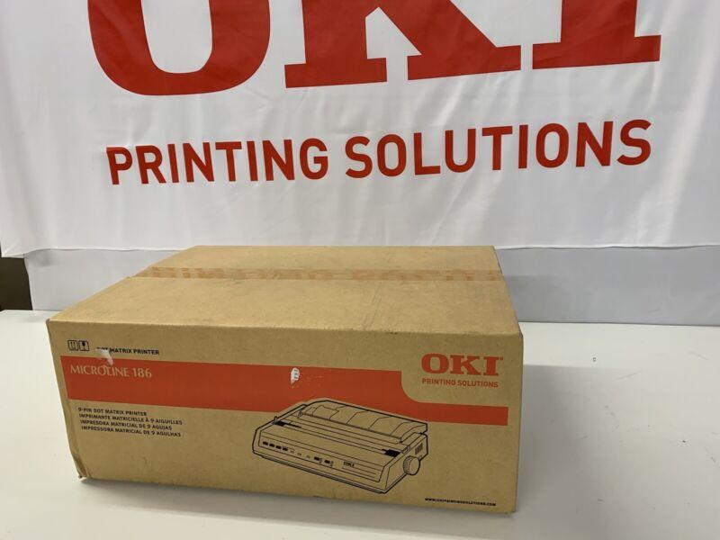 OKI Data MicroLine 186 9 Pin Impact Printer USB Serial 62422402