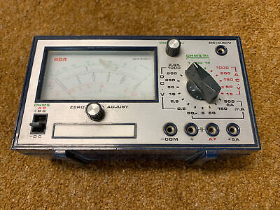 Rca Volt Ohm Test Meter Model Wv-536a