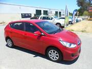 2014 Hyundai Accent RB2 Active Red 4 Speed Sports Auto Hatchback Maddington Gosnells Area Preview