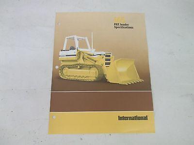 International Harvester 165 Pay Loader Specifications Brochure