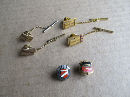Union Camp Employee Service Pins Franklin VA Virginia Gold Filled & Sterling