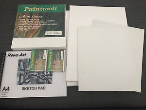 Various art canvasses and new A4 sketch pad Willmot Blacktown Area Preview