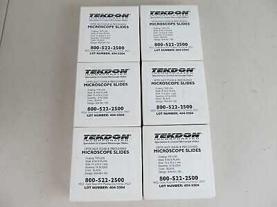 Tekdon Microscope Microscopic Slides Teflon Coated Plain Optically Clear Lot