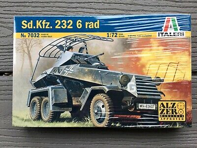 ITALERI 1/72 WW II GERMAN SD. KFZ. 232 6 RAD ARMOURED CAR MODEL KIT 7032 F/S