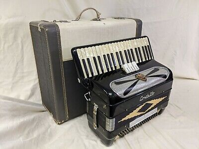 """Contello Piano Accordion 41 Key 2/4 Reeds ~ 16"""" Keyboard  Good Working Condition"""