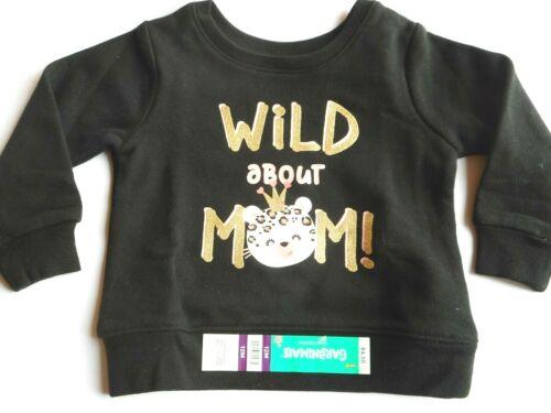 Sweatshirt Baby Toddler Kids Girls Outerwear Black Garanimals 12 18 Months