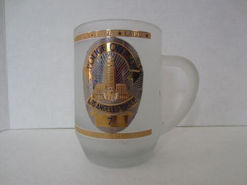 Glass Kapan-Kent Gold Trim Mug Cup, Los Angeles Police Dept. Shield Wilshire