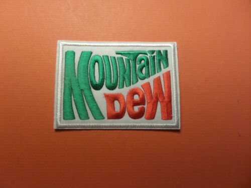 "MOUNTAIN DEW"" EMBROIDERED IRON ON PATCHES 2-3/4 X 3-3/4"