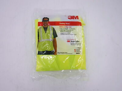 3m Safety Vest Featuring Scotchlite Reflective Material One Size-94616