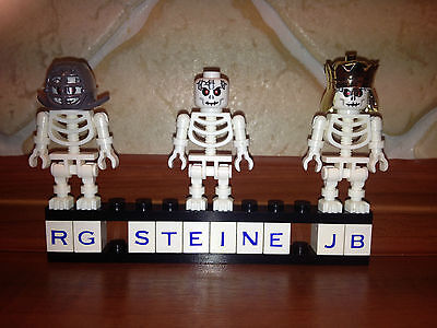 LEGO Figur 3x Skelett Skelette Figuren rote Augen - Rot Ninjago