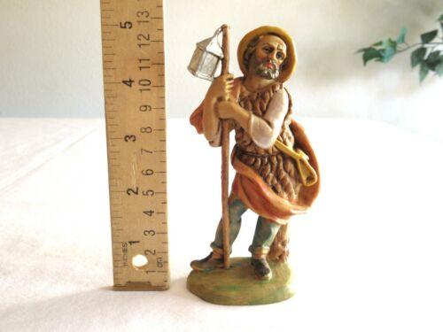 """Vintage Italy Nativity Figurine Figure - Villager Lantern Plastic ~5"""""""