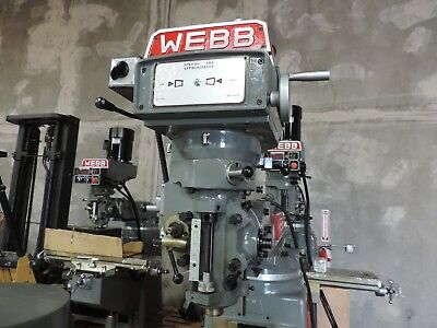 Webb Heavy Duty 3 H.p. Variable Speed Milling Machine Head New