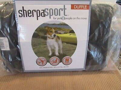 New Sherpa Sport Duffle pet carrier size medium red/silver cats or dogs