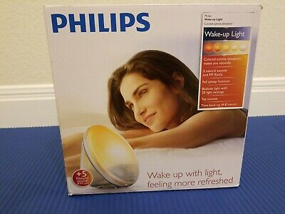 Philips Wake Up Light Alarm Clock Colored Sunrise Simulation HF3520 Open Box