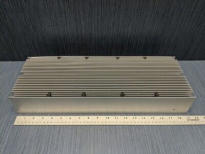 Large Aluminum Heatsink 19 Long X 6 78 Wide X 3 Tall 28 Fins 15 Lbs 12 Oz.