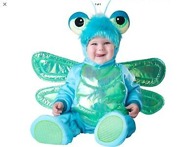 New InCharacter Costumes Baby's Dinky Dragonfly Halloween Baby 6/12 Months NEW